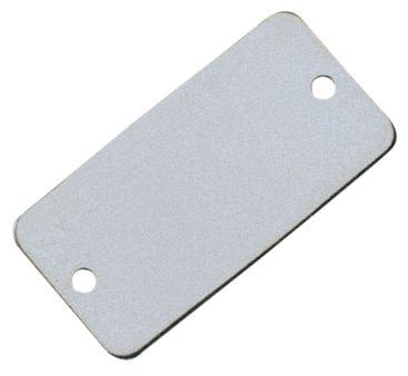 Blanco bedrijfsplaatjes - messing of aluminium