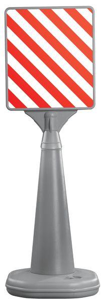 Blanco signalisatiebord met verzwaarbare houder