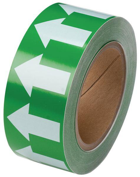 Leidingmerkers op tape, éénkleurig of met pijl