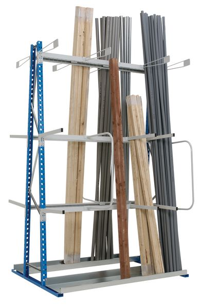 Magazijnstelling voor verticale opslag van lange ladingen