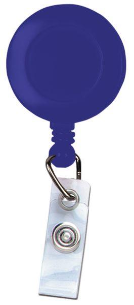 Badgehouder met oprolmechanisme en draaibare klem