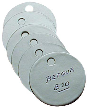 Blanco ventielplaatjes van zacht aluminium om zelf te graveren