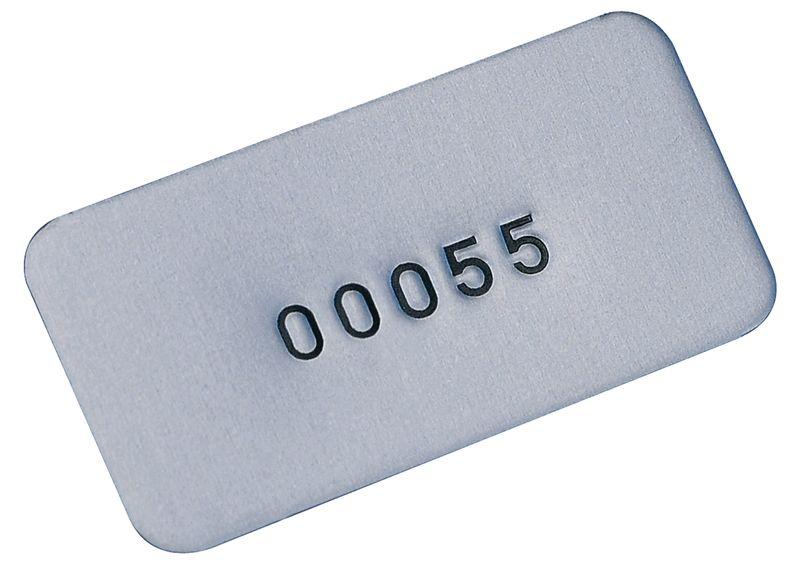 Beschrijfbare eigendomsetiketten SetonGuard® van aluminium, met nummering