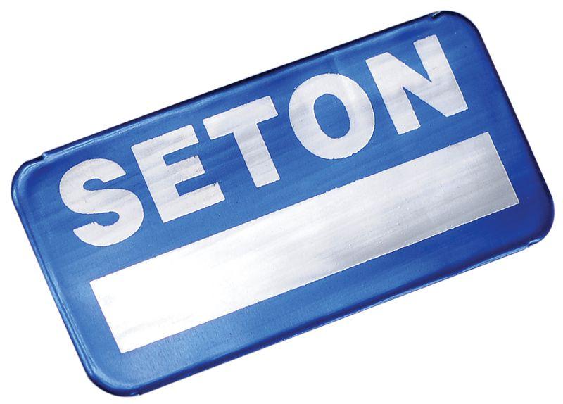 Personaliseerbare eigendomsetiketten SetonGuard® van aluminium, voor gebogen oppervlakken