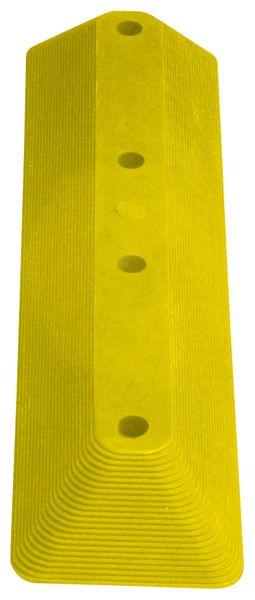 Parkeerstops van elastomeer, geel en zwart