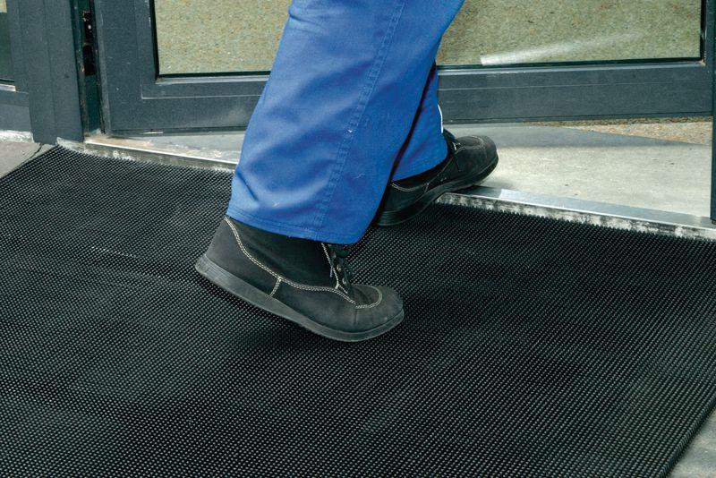 Rubber deurmat met noppen voor binnen- en buitengebruik