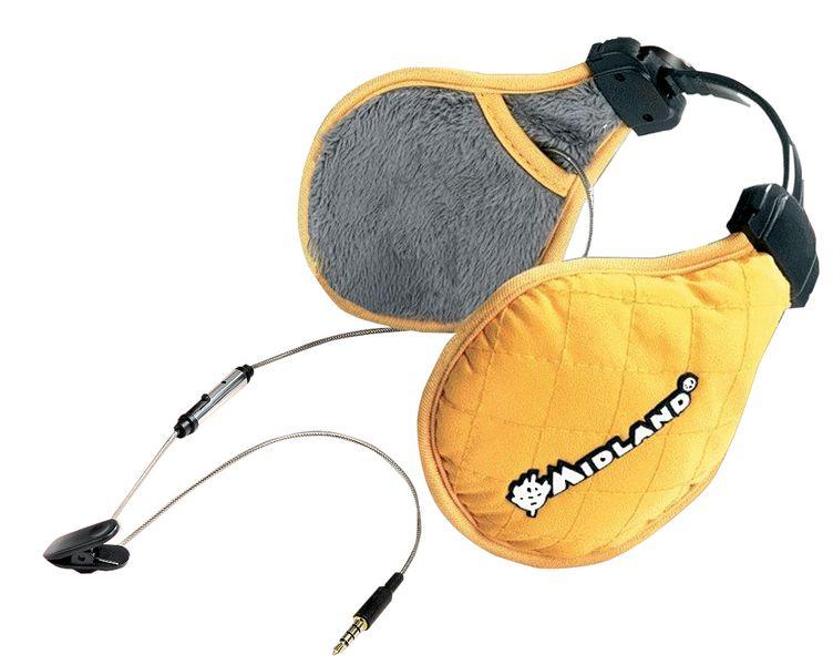 Oorwarmers met koptelefoon voor walkie talkie