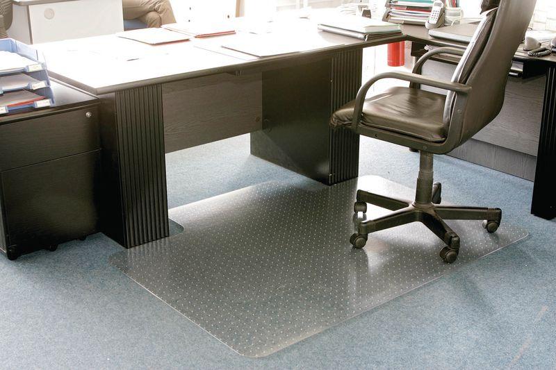 Bureaustoelmat voor gladde vloeren of tapijten
