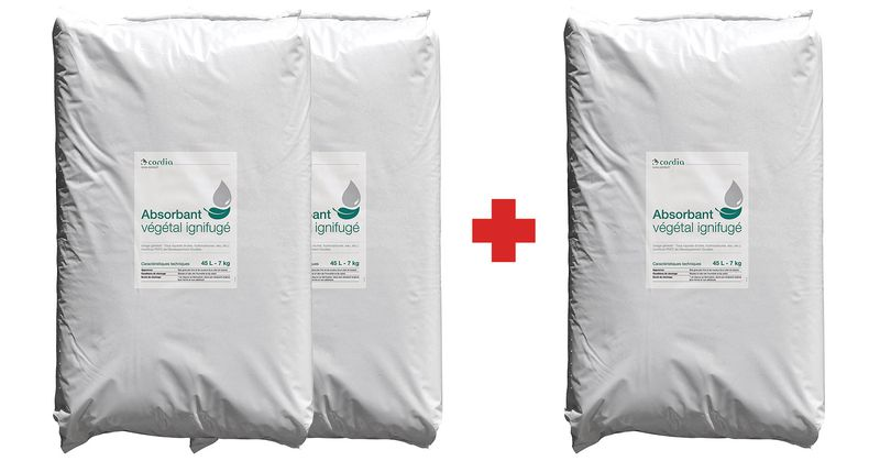 Promopack 2 + 1 zakken absorberende korrels