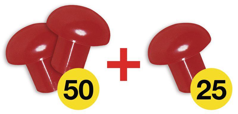 Set met 2 beschermende opzetstukjes van plastic + 1 gratis (50 + 25 gratis)
