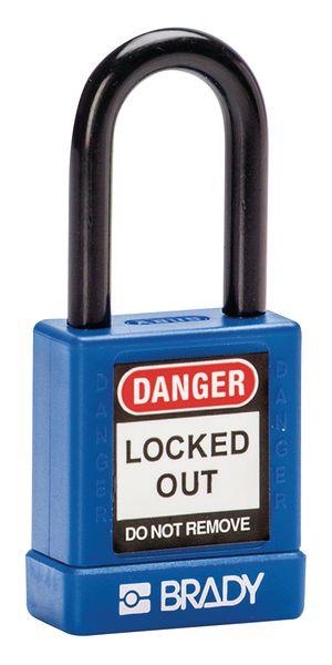 Hangslot voor lockout versterkt met nylon coating