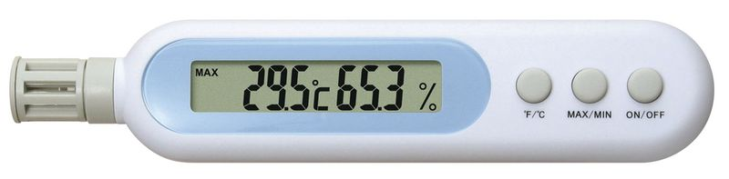 Zakthermometer/-hygrometer balpen formaat