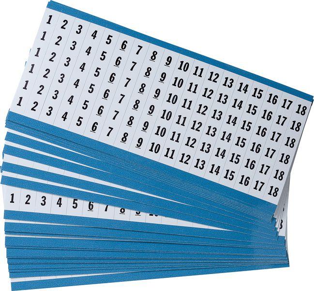 Kabellabels van vinyl met cijfers en/of tekst