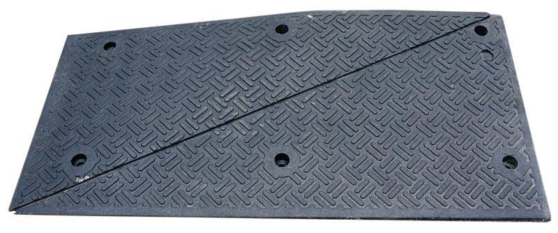 Modulaire verkeersdrempel met of zonder zebrapad