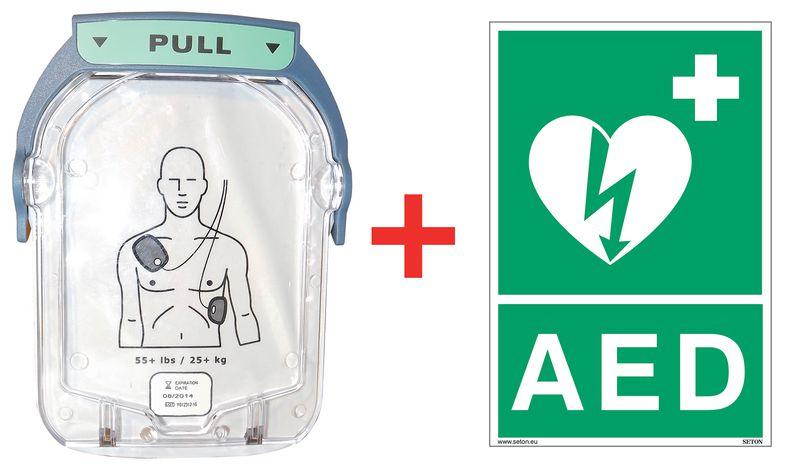 Kit elektroden voor defibrillator HS1 + gratis officiële signalisatie