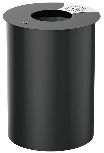 Ronde, design afvalbak Rossignol voor buitengebruik