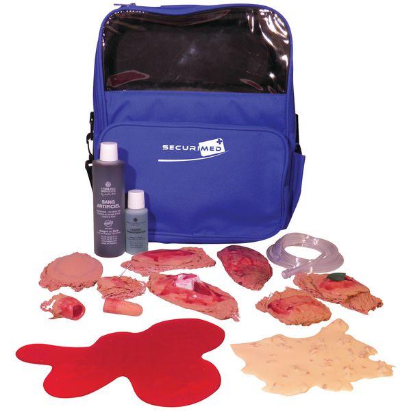 Koffer met nepverwondingen