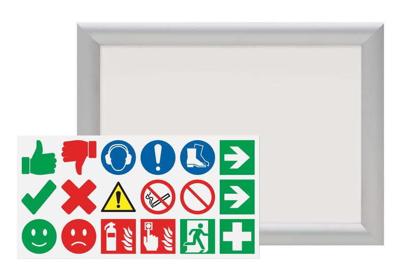 "Kit aluminium poster frame en mini stickers ""Do en Don't"""