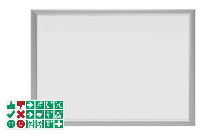 """Kit aluminium poster frame en mini stickers """"Do en Don't"""""""
