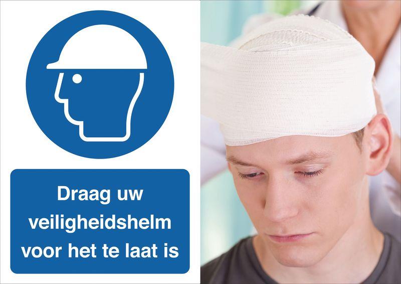 Veiligheidsposter gevolgen - Draag uw helm - M014