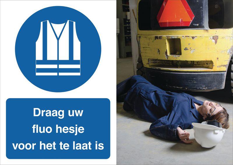 Veiligheidsposter gevolgen - Draag uw fluohesje - M015