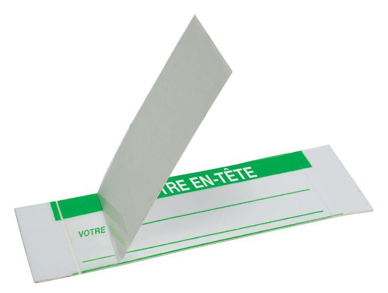 Personaliseerbare, zelflaminerende controlestickers van polyester