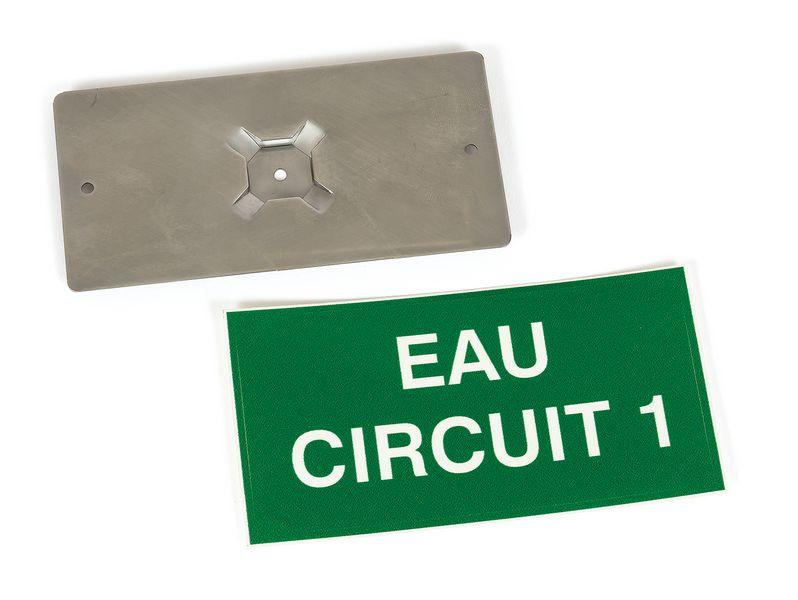 Personaliseerbare ventielplaatjes met houder