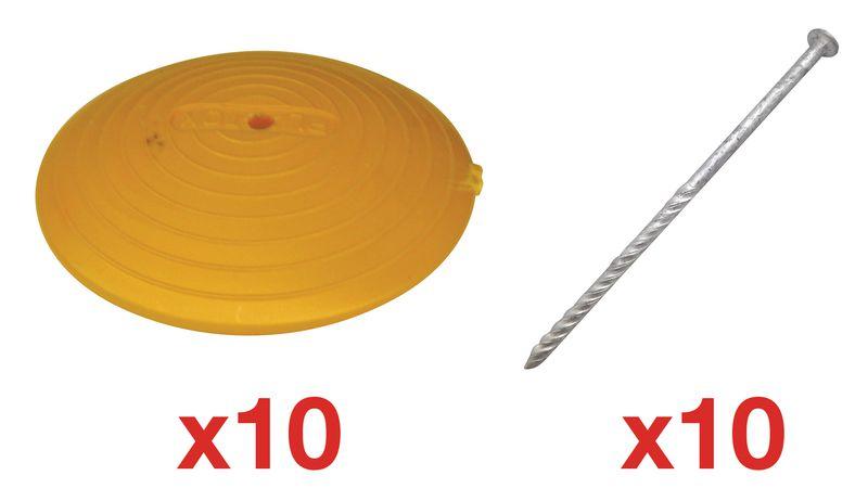 Markeernagels van plastic om te bevestigen met lijm of schroef