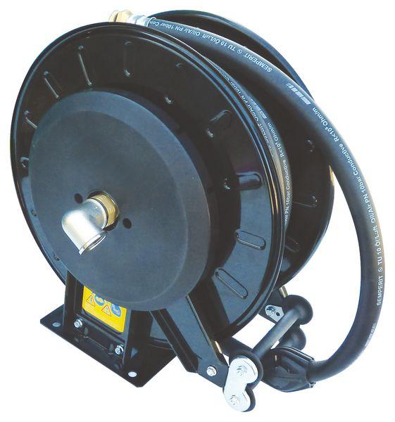 Automatische haspel voor tank diesel, hydraulische oliën en koelvloeistof (1500 l)