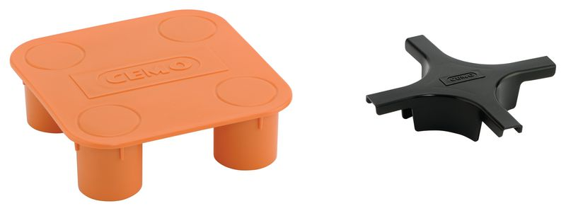 Verbindingskruis voor opvangbak (twee verschillende onderdelen)