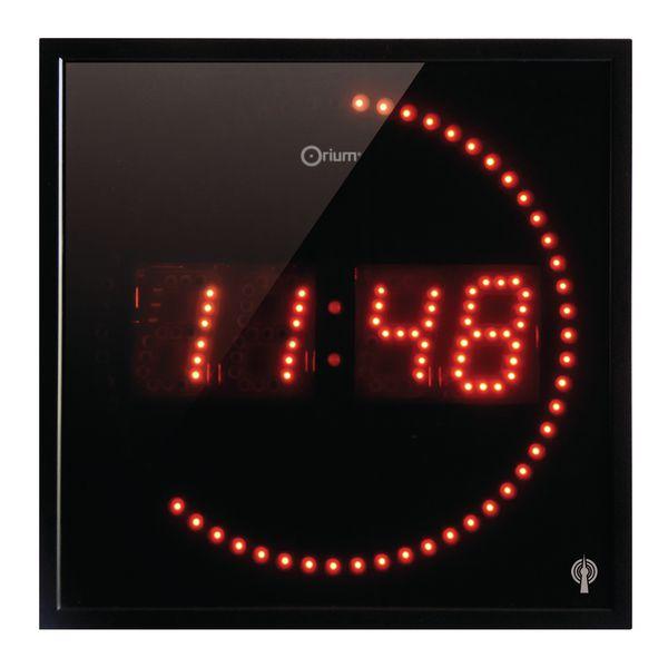 Digitale klok in de vorm van een vierkant