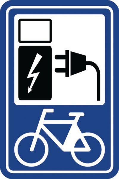 """Parkeerbord """"laadpunt elektrische fiets"""""""