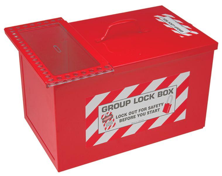Group lockout box voor vergrendeling en opslag hangsloten