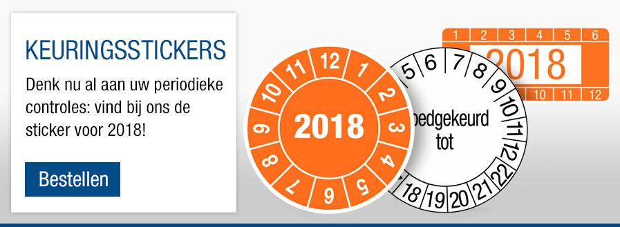 Keuringsstickers 2018