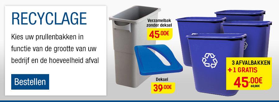 Gescheiden afvalbakken