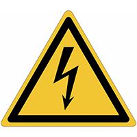 Waarschuwingsborden en -stickers ISO 7010 Elektriciteit