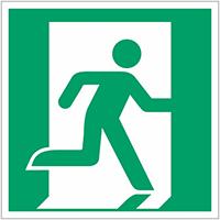 Borden en stickers nooduitgang rechts ISO 7010