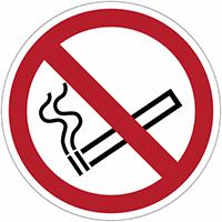Verbodsborden en -stickers ISO 7010 Verboden te roken