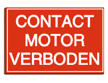 Pictogram contact motor verboden