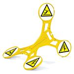 Roterend signaleringsbord Seton 360 – Gladde vloer
