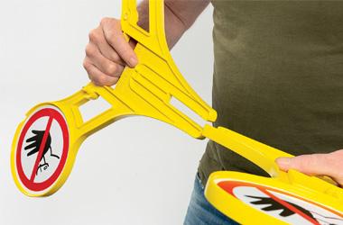 Stap 1 installatie roterend signaleringsbord