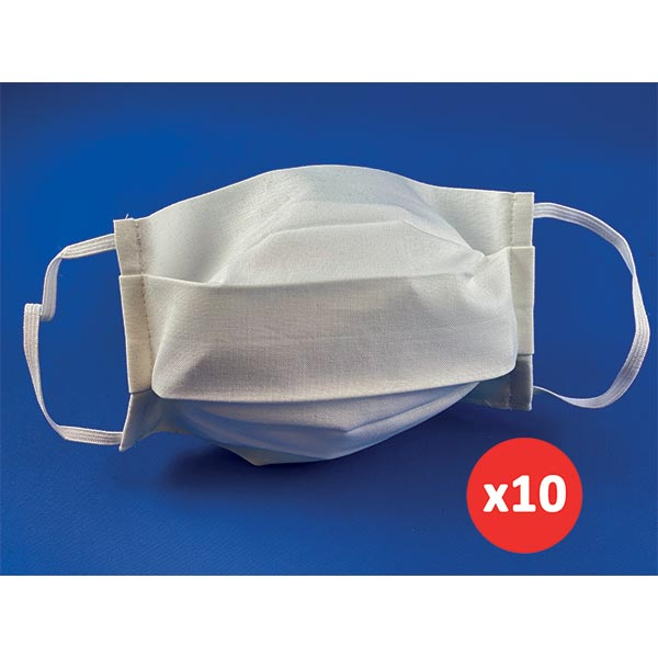 10 wasbare mondmaskers