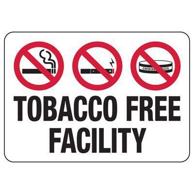 Smoke & Tobacco Free Signs