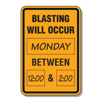 Mine Sign, Blast Sign & Mine Warning Signs