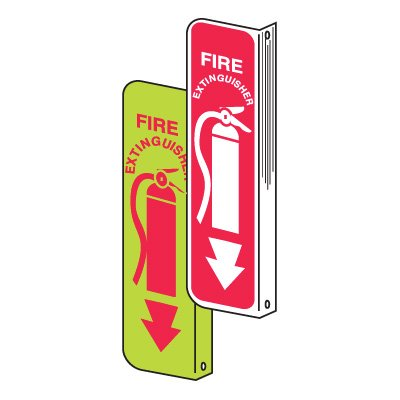2-way Fire & Exit Signs - Fire Extinguisher