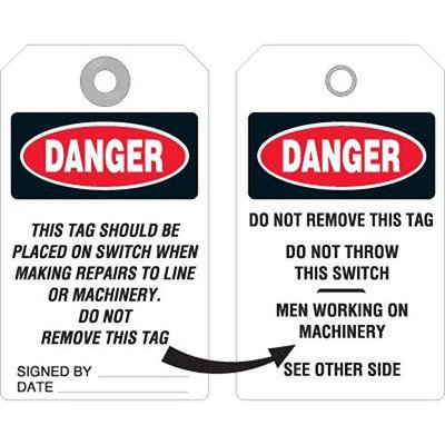 Do Not Throw Switch Accident Prevention Tag