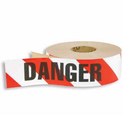 Adhesive Backed Barrier Tape  - Danger