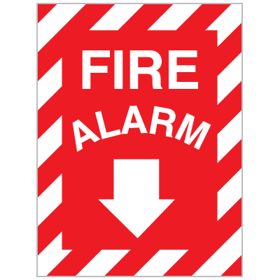 Fire Alarm Self-Adhesive Vinyl Sign