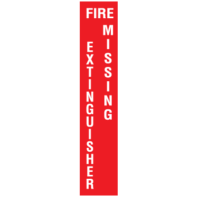 Fire Extinguisher Missing Self-Adhesive Vinyl Fire Equipment Signs