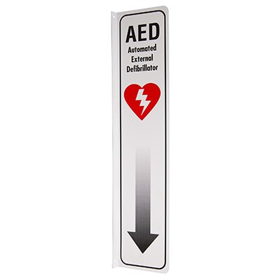 2-Way View AED Sign - (Includes Arrow Graphic)
